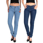Pack of 2 Fizzaro Slim Fit Plain Denim_Fzljsblbl - Blue