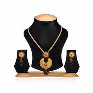 Oleva Ladies Kundan Set_OKP4 - Gold & Silver