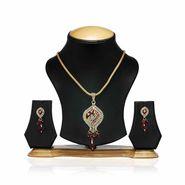 Oleva Ladies Kundan Set_OKP11 - Gold & Silver