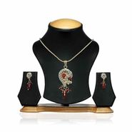 Oleva Ladies Kundan Set_OKP13 - Gold & Silver