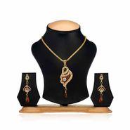 Oleva Ladies Kundan Set_OKP39 - Gold & Silver