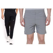 Combo of 1 Adidas Casual Short & 1 Nike Track Pant_Os006