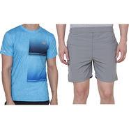 Combo of 1 Adidas Casual Short & 1 Plain Half Sleeves Tshirt_Os007