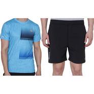 Combo of 1 Adidas Casual Short & 1 Plain Half Sleeves Tshirt_Os008