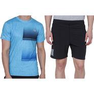 Combo of 1 Adidas Casual Short & 1 Plain Half Sleeves Tshirt_Os009