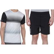 Combo of 1 Adidas Casual Short & 1 Plain Full Sleeves Tshirt_Os017