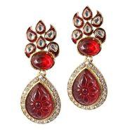 Kriaa Kundan Meenakari Earrings _13037100