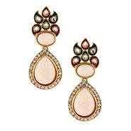 Kriaa Meenakari Kundan Earrings _1303739