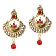 Kriaa Kundan Pearl Earrings _1303777