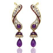 Kriaa Austrian Diamond Jhumki Style Drop Earrings _1304502