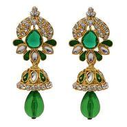Kriaa Austrian Stone Jhumki Style  Meenakari Earrings_1304810