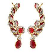 Kriaa Meenakari Finish Austrian Stone Ear Cuff _1305618