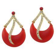 Kriaa Austrian Stone Resin Dangle Finish Earrings _1305704