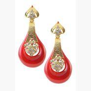 Kriaa Austrian Stone Resin Finish Earrings _1305735