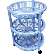 Princeware Maria 3 Rack Big Trolley-Blue_2783-3RBL