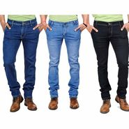 Pack of 3 Blended Cotton Slim Fit Jeans_50231011 - Blue & Black