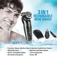 3 in 1 Rechargeable Men's Shaver