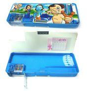 Multi-purpose Magnetic Pencil Box Dual side With Inbuilt Sharpener