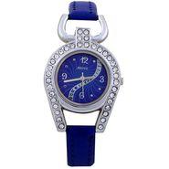 Adine Round Dial Analog Wrist Watch For Women_37bb02 - Blue