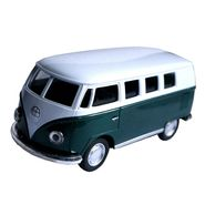 1:32 Scale White & Green Die-Cast Bus Model