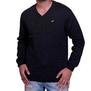 Flying Space Full Sleeves Acrylic Sweater For Men - Grey-Black