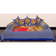 Set of 8 Priya Fashions Cotton King Size Jaipuri Printed Diwan Set-70X100DW10