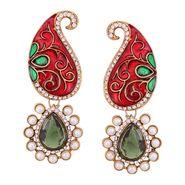 Vendee Fashion Stylish Earrings - Marron & Green