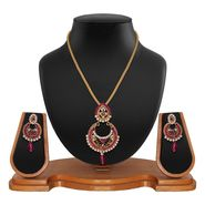 Vendee Fashion Stylish Pendant Set - Pink