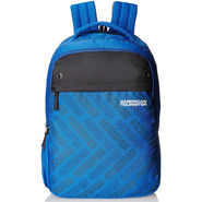 American Tourister Fabric Blue & Grey Backpack -A03
