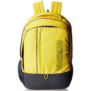 American Tourister Polyester Yellow Backpack -A05