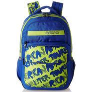 American Tourister Polyester Royal Blue Backpack -A09