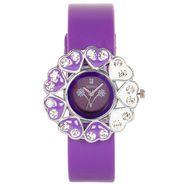 Adine Analog Round Dial Watch For Women_AD110014 - Purple