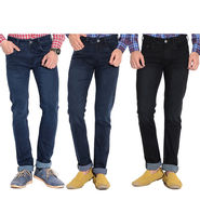 Pack of 3 American Elm Stretchable Slim Fit Jeans_Aemj123 - Black & Blue