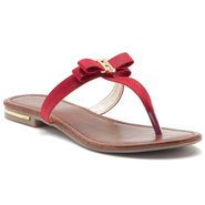 Aleta Synthetic Leather Womens Flats Alwf0316-Red