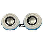 Ambrane SP-40 Portable USB Speaker - White & Blue