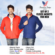 American Indigo Fleece Jacket for Men - Buy 1 Get 1 Free