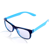 Aoito Full Rim Spectacles Frame - Black & Sky-Blue