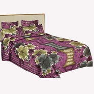 Bazar Villa Cotton King Size Double Bed Sheet with 2 Pillow Cover - Multicolor- RCA3102