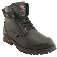 Leather  Black  Boot -ntb05