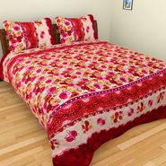 Mangalam Polycotton double Bedsheet  with 2 pillow covers-BD-23