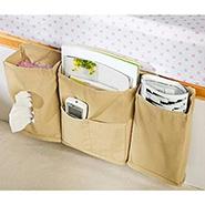 BD Bedside Organizer / Storage For Multipurpose Use - Cream