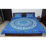 Jaipuri Printed Double Bedsheet With 2 Pillow Covers-BDEVB07B