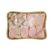 Montaly Rectangle Shape 9 Piece Baby Gift Set - Pink