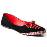 Branded Suede Leather Ballerinas BLS-005-RD