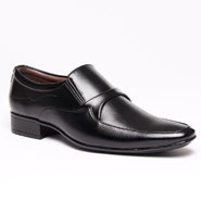 Bacca bucci Faux Leather Formal Shoes - Black-4315