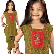 Little India Bagru Designer Sanganeri Cotton Salwar Suit - DLI3GED104C