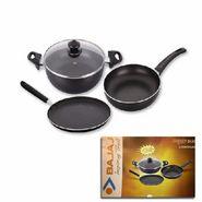 Set of 3 Bajaj Majesty Duo Induction Base Cookware - Black