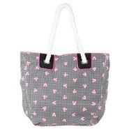 Be For Bag Cotton Canvas Style Tote-Pink White & Black