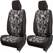 Branded Printed Car Seat Cover for Toyota Etios - Grey