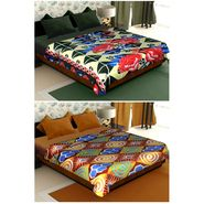 Set of 2 Polyester Double Size Printed AC Blanket-CA_1211-1216